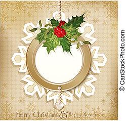 vintage retro christmas background - vector vintage retro...