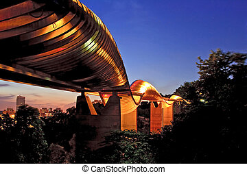 Singapore wavw bridge - Singapore henderson wave bridge...