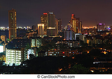 penang cityscape malaysia - skyscraper and skyline building...