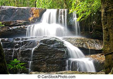 Pangsida Waterfall - Pangsida Paradise Waterfall East of...