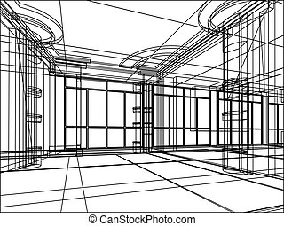 architectural abstract sketch - abstract design sketch of...