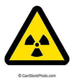 Nuclear Sign on white - Nuclear Symbol
