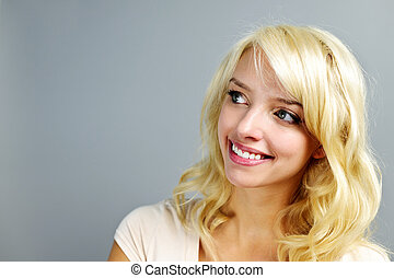 Smiling young woman portrait - Portrait of smiling young...