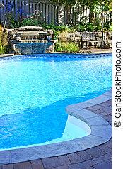 natação, piscina, Cachoeira