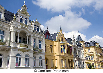 Cottbus facades - Wiew on the beautiful old houses of...