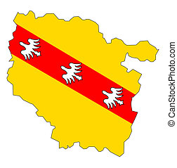 map with flag of lorraine