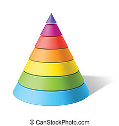 Layered cone - Vector illustration of a layered cone