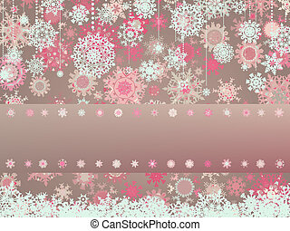 Vintage Christmas card with snowflakes. EPS 8