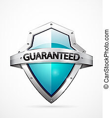 Vector guarantee shield - Vector guarantee icon Realistic...