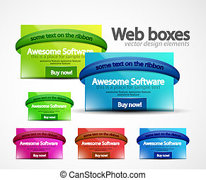 Web boxes - Clean web boxes. Web design assets