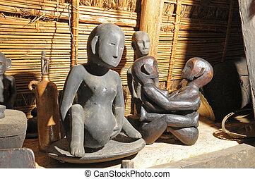 Luzon Island in Philippines - Sculptures in shop in...