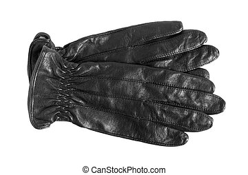 Black women gloves isolated on a white background
