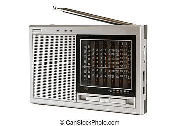 Radio receiver on a white background
