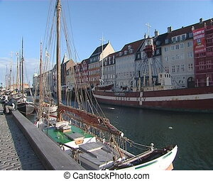 Pier with a lot of boats in Denmark