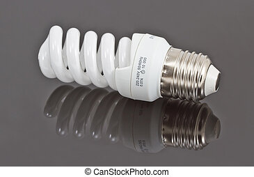 Energy saving bulb, isolated