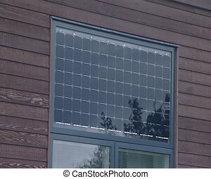Solar collectors - Closeup of solar collectors used in...
