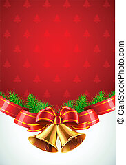 Christmas decorative background - Vector illustration of...