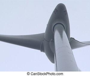 Rotating windmill propeller