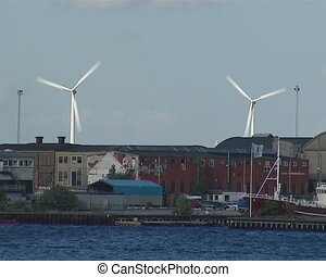 Windmills generating electricity