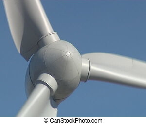 Rotating windmill propeller - Closeup of a rotating windmill...