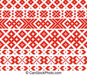 Belorussian traditional ornament two may be used as...