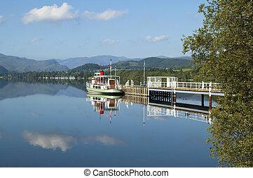 lakeland scene - beautiful lakeland scene with reflection