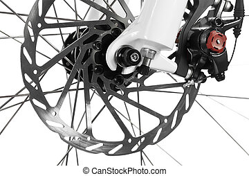 Bicycle disk brake - Mountain bike front wheel with...