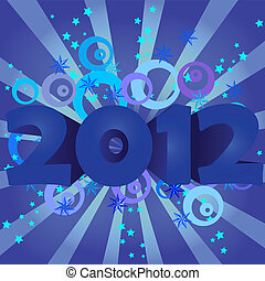 year 2012 vector illustration