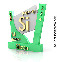 Silicon form Periodic Table of Elements - V2 - Silicon form...