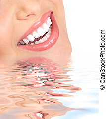 Smile and healthy teeth. - Healthy woman teeth and smile....