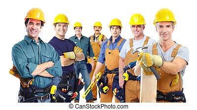工人, 工業, 組, 專業人員