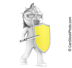 Maximum Protection - 3D little human character The Gladiator...