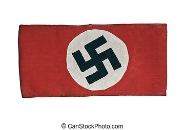 Swastika Armband From World War II - Authentic Swastika...