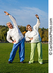 healthy old people - portrait of a healthy old people...