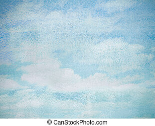 wet watercolor sky blue abstract background