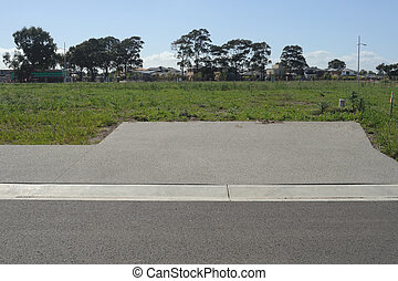 Driveway to land lot - Empty land lot for sale with leading...