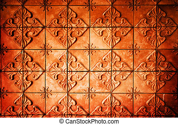 red brick wall pattern as background
