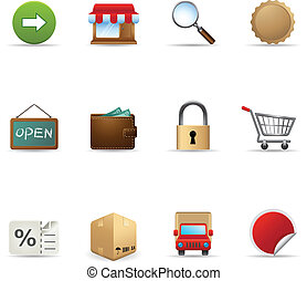 Web Icons - More Ecommerce - Ecommerce icon set. Font...