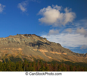 Bare Mountain - Treeless mountain ridge above a forest line...