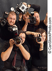 Paparazzi - Photo of paparazzi fighting for space to take...