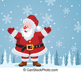 christmas illustration of santa claus - vector christmas...