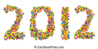2012 made of confetti