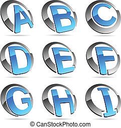Company symbols. - Letter company symbols. Vector...