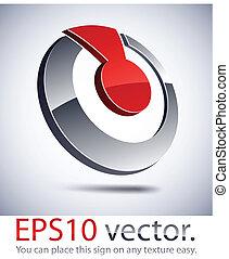 3D modern shuttlecock logo icon. - Vector illustration of 3D...