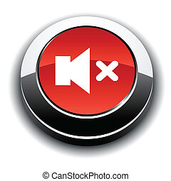 Mute 3d round button.