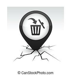 Delete black icon in crack.