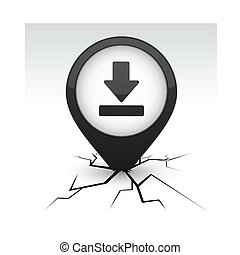 Download black icon in crack.