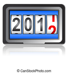 2012 New Year counter, vector.