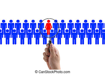 woman recruitment - woman employee in workplace for business...