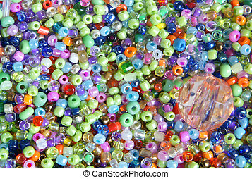 Beads - Background with shiny colorful beads